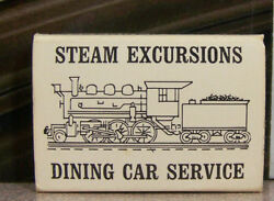Rare Vintage Matchbook S4 Cooperstown New York Steam Railroad Car Dining Service