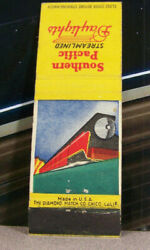 Vintage Matchbook Cover V3 Railroad Train Southern Pacific Streamlined Daylights