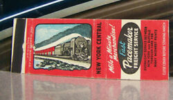 Vintage Matchbook Cover V3 Railroad Train New York Central Mile A Minute Pace