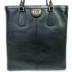 Pre-owned 547851 493075 Gg Marmont Re Belle Tote Bag Black Leather F/s