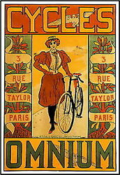 96918 Cycles Omnium Bicycle Decor Laminated Poster Us