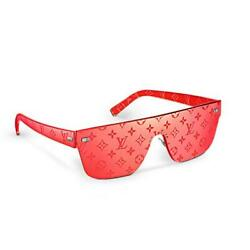 LOUIS VUITTON SUPREME LV LIMITED EDITION RED LOGO CITY MASK SUNGLASSES SOLD OUT