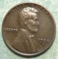 1924 D Wheat Penny Xf+ Choice Extra Fine Brown Semi Key Only 2.5 Mil +high Grade