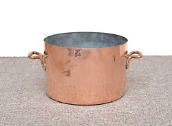 Old Antique Copper Cooking Pot By Benham And Sons / 66 Wismore St. London