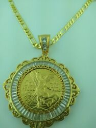 Centenario Coin 50 Pesos Mexican Coin With Frame And Necklace Assorted Styles