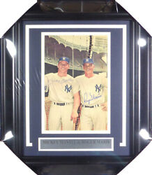 Mickey Mantle And Maris Autographed Framed Magazine Page Photo Beckett Coa A74177