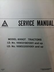 Allis Chalmers Riding Lawn Mower Tractor Service Manual 810gt 808gt 1977