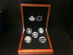 2014 Royal Canadian Mint .9999 Fine Silver 25 Coins Complete Set And Display Case