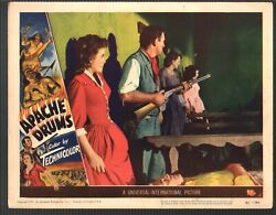 Apache Drums-lobby Card-4-1951-stephen Mcnally-coleen Gray