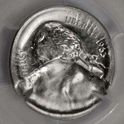 1965 Pcgs Ms63 Mushroom 45 Indent Broadstruck Nickel Mint Error Rare Date