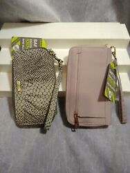 2 TRAVELON SAFE ID RFID BLOCKING WRISTLET WALLETS NEW WITH TAGS $21.00