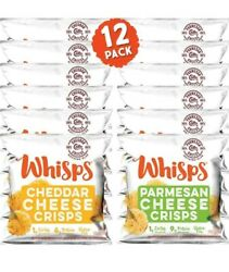 Whisps Cheese Crisps Single Serve 12 Ct Cheddar And Parm Keto And Low Carb Snack