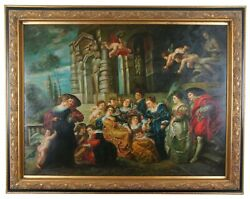 The Garden Of Love After Peter Paul Rubens Baroque Renaissance Oil Painting