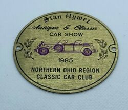 Badge For Stanhywet Antique And Classic Car Show Northern Ohio Region Car Club Andlsquo85