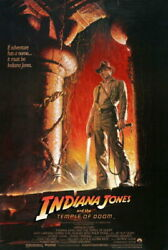 90609 Indiana Jones And The Temple Of Doom Movie Decor Laminated Poster Fr