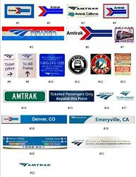Amtrak Decals For Lionel Engines, Cars, And Layouts