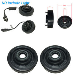 2pcs 80mm Rubber Seal Dust Proof Cover Waterproof Gap For Car Led Hid Headlight