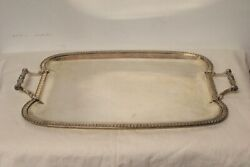 Tray Centerpieces Rectangular / With Handles Machined/silver 800