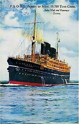 95111 1920s Viceroy Of India Ocean Liner Travel Decor Laminated Poster Ca