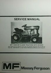 Massey Ferguson Mf 7 And Mf 8 Riding Lawn Garden Tractor And Mower Service Manual Hp