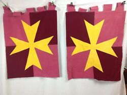 Medieval Banner Set Of 2 Or 3 Handmade And Beautiful 4 Types