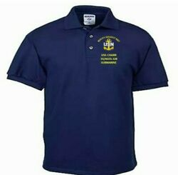 Uss Charr Ss/agss-328 Submarine Embroidered Lightweight Polo Shirt
