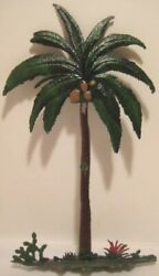 Old Rare Large Britains Lead Florida Palm Tree Garden Or Nativity Landscape 1
