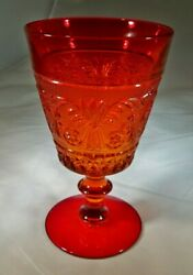 Duncan And Miller Glass Co. Sandwich Red 6 Tall 9-ounce Footed Water Goblet