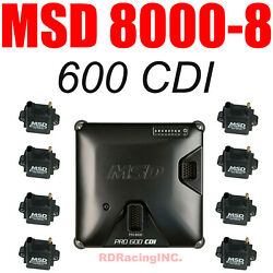 Msd 8000-8 Pro 600 Cdi Ignition And Coil Kit New In Stock Now No Games Here