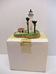Danbury Mint 1993 Point Vicente Lighthouse Sculpture With Box