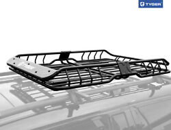 Tyger Heavy Duty Roof Top Cargo Basket Luggage Carrier Rack L57.5xw42xh6