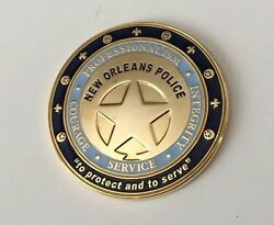 New Orleans Police Nopd Challenge Coin Since 1796 Vtg Old Nightwatch Katrina Htf