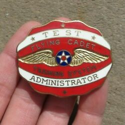 Usaaf Us Army Air Force Test Administrator Flying Cadet Training System Badge
