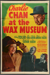 Charlie Chan At Wax Museum Vintage Movie Poster One Sheet 1940 Sidney Toler