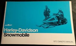 Vintage 1972 Amf Harley-davidson Snowmobile Owners Manual New 459