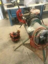 Ridgid 300 Pipe Threader With 141 And Pipe Chain Vice