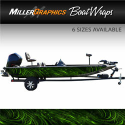 Spiral Green Boat Wrap Kit 3m Cast Vinyl Graphic Decal - 6 Sizes Available