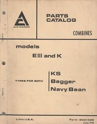 July 1970 Allis-chalmers Combine Model Eiii And K Parts Manual Form 9001306 331