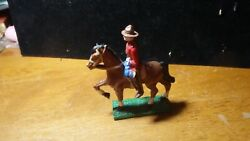 Canadian Mounted Police Mounted Lead Figurine 1950's