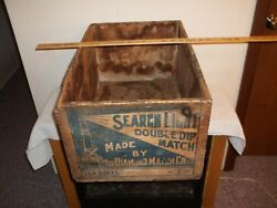 Vtg Large Diamond Match Co Search Light Matches Wooden Crate Railroad Box