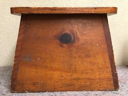 Very Sturdy Antique General Store Wooden Display Step