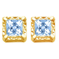 1/2 Ctw Princess Diamond Stud Earrings In 14k Yellow Gold Christmas Special