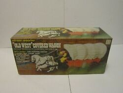 Vintage Universal New In Box Old West Covered Wagon Battery Operated Toy