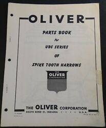 Oliver Ubc Spike Tooth Harrow Parts Manual Form S2-9-g21-1 272