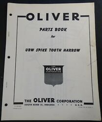 Oliver Ubw Spike Tooth Harrow Parts Manual Form S2-9-g34-1 274
