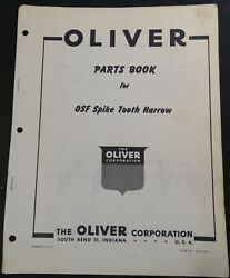 Oliver Osf Spike Tooth Harrow Parts Manual Form S2-9-g9-1 273