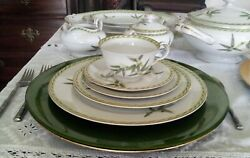 84 Pc Bamboo Fine China By Aladdin - Complete Service For 8+ Made Occupied Japan