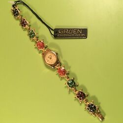 Gruen Collectible Turtle Link Watch - Gold-tone, Needs Battery