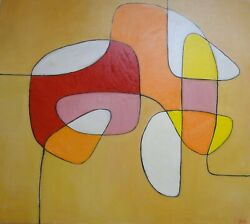 Contemporary Art. Original Painting Oil On Canvas.4 Lines 2 Paintings