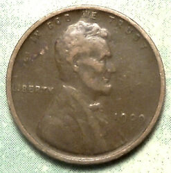 1909 Vdb Wheat Penny Vf+ Choice Very Fine Brown 1st Year Lincoln Low 28 Ml Store
